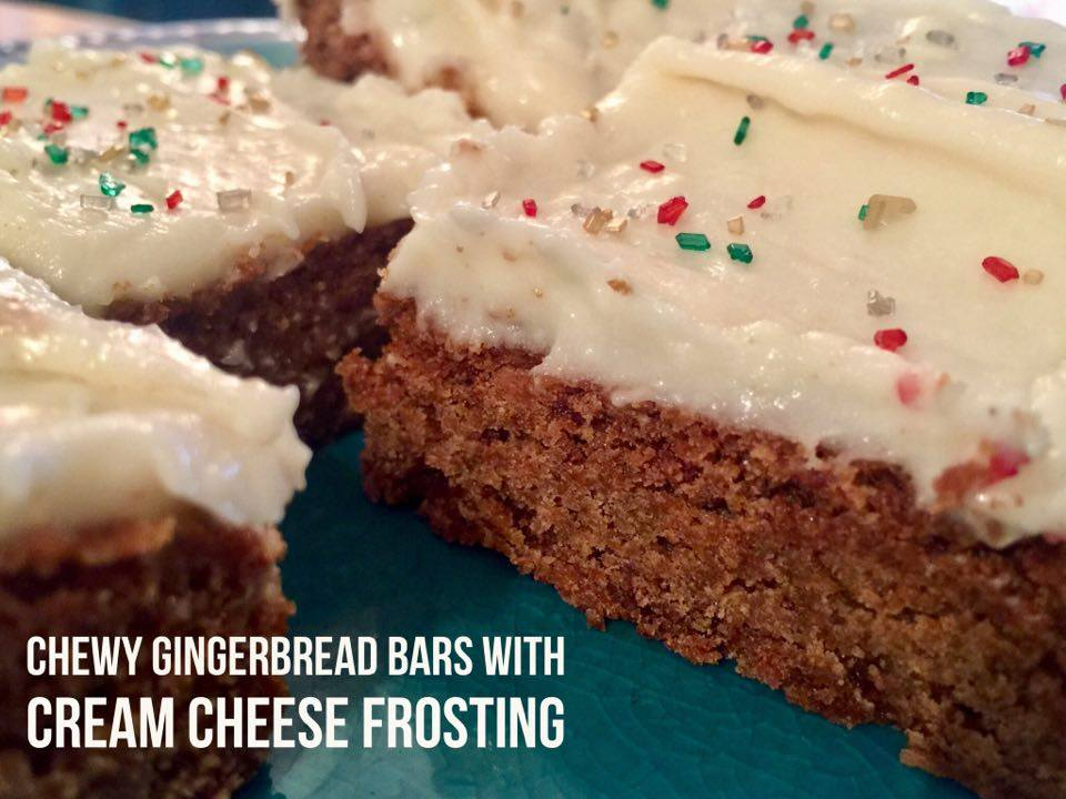 ​Holiday Recipes - Chewy Gingerbread Bars
