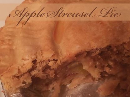 Recipe:  Apple Streusel Pie