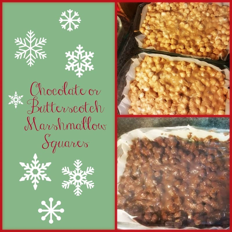 Chocolate or Butterscotch Marshmallow Squares