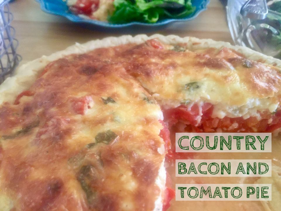 Recipe:  Country Bacon and Tomato Pie
