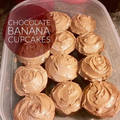 Recipe: Chocolate Banana Cupcakes  with Peanut Butter Frosting